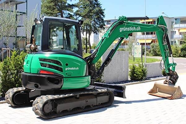 Bagger 6 Tonnen von Grün-Stich Gartenbau